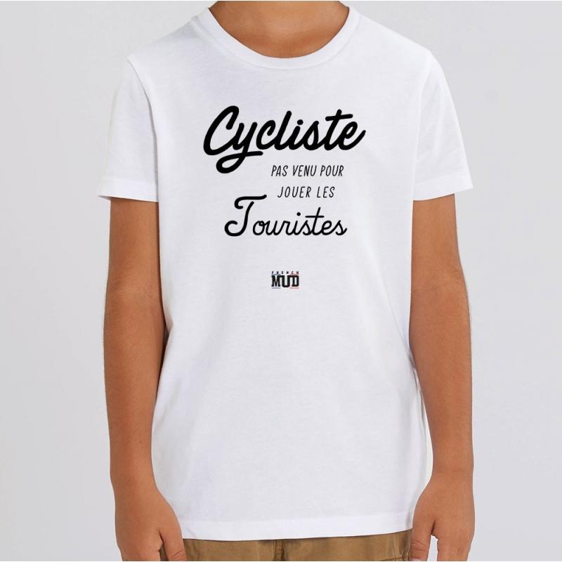 TSHIRT Enfant CYCLISTE PAS VENU JOUER LES TOURISTES