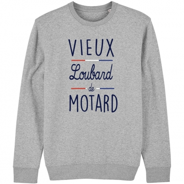 SWEAT Unisexe VIEUX LOUBARD DE MOTARD