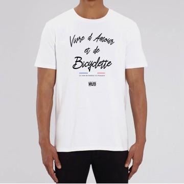 """TSHIRT """"VIVRE D'AMOUR ET DE BICYCLETTE"""" Homme"""