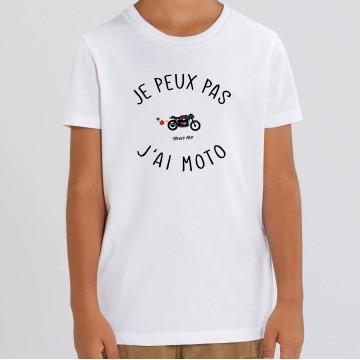 TSHIRT Enfant JE PEUX PAS J'AI MOTO