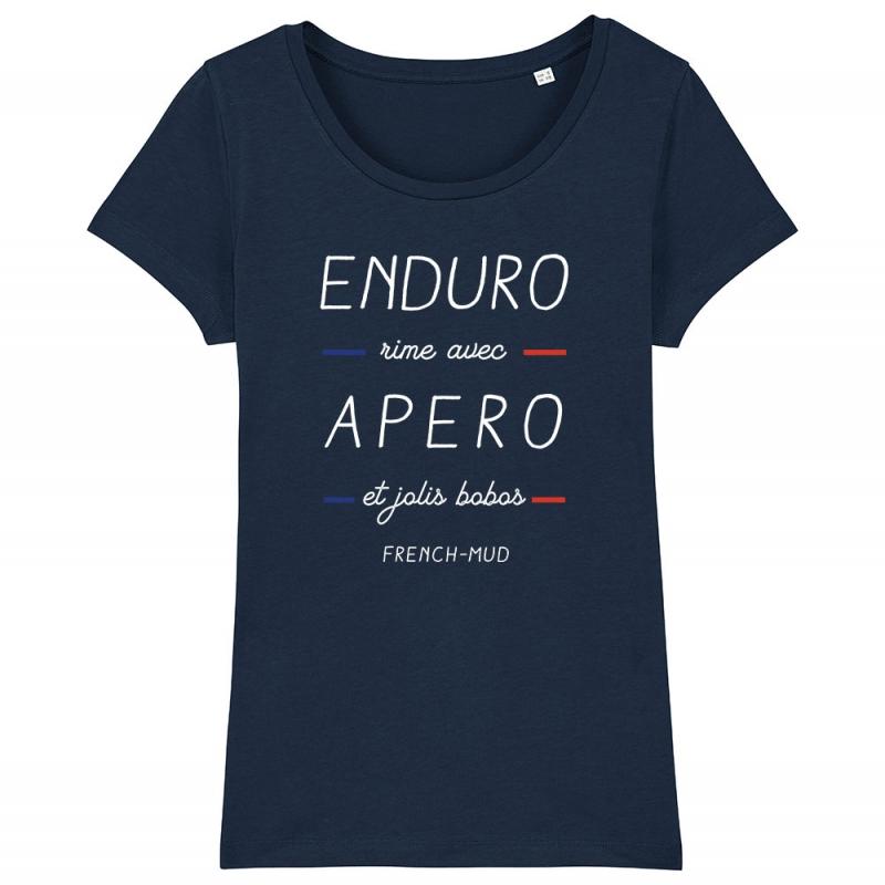 TSHIRT Femme ENDURO RIME AVEC APERO ET BOBOS