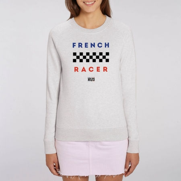"SWEAT ""FRENCH RACER"" Femme BIO"