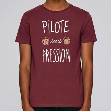 "Tshirt Homme Bio ""Pilote sous pression"""