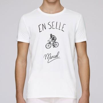"""Tshirt Homme Bio """"En selle Marcel"""""""