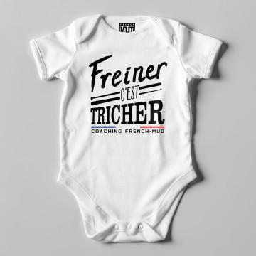"""BODY """"FREINER C'EST TRICHER"""" Bebe BIO"""