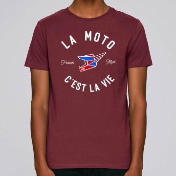"""Tshirt Homme Bio """"La Moto c'est la Vie"""" version MX"""