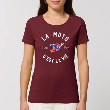 """Tshirt Femme Bio """"La Moto c'est la Vie"""" version MX"""