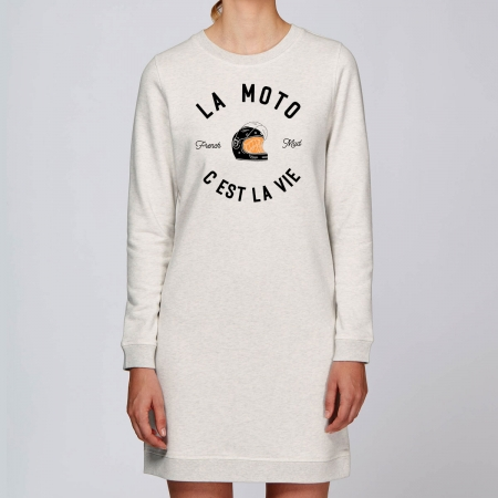 "Robe Sweat Bio ""La Moto c'est la Vie"" version Route"