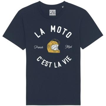"Tshirt Homme Bio ""La Moto c'est la Vie"" version Route"
