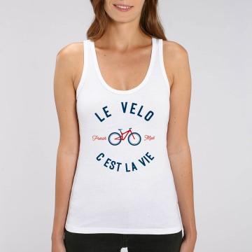"""Debardeur Femme Bio """"Le Velo c'est la Vie"""" version VTT"""