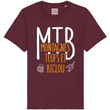 """Tshirt Homme Bio """"Montagnes Teufs et Biclou"""""""