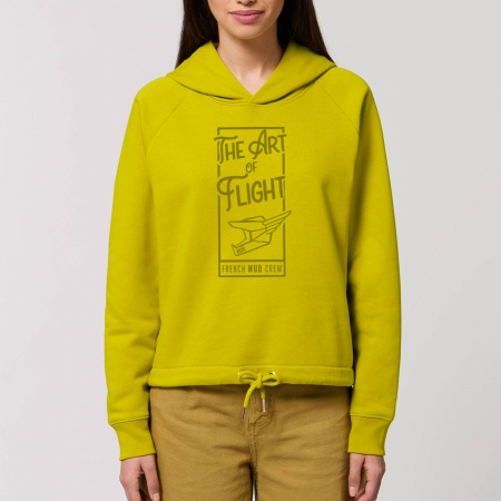 "Sweat Capuche Femme Bio ""The Art of Flight"""