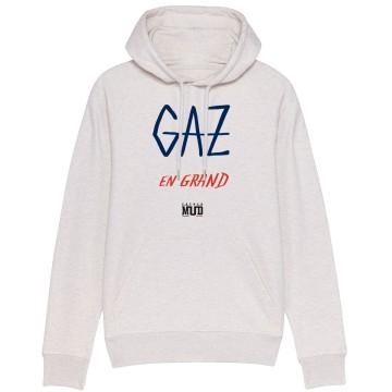 "Sweat Capuche Homme Bio ""Gaz en Grand"""