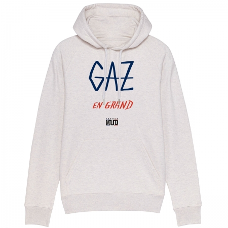 "Sweat Capuche Homme Bio ""Gaz en Grand"""