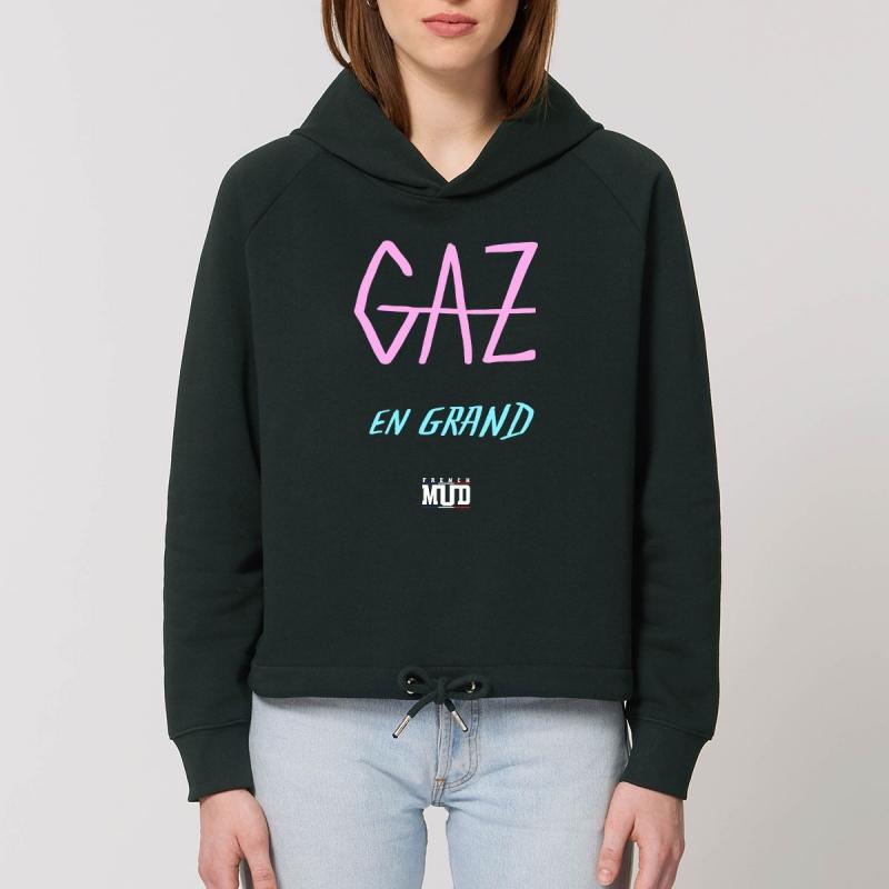 """Sweat Capuche Femme Bio """"Gaz en Grand"""""""
