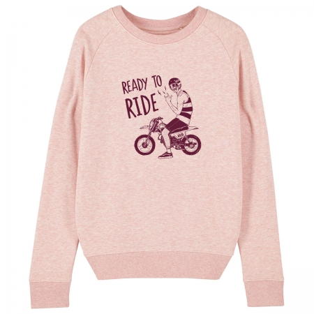 "Sweat Femme Bio ""Ready to Ride"""