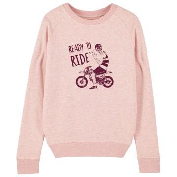 "Sweat Femme Bio ""Ready to Ride"""