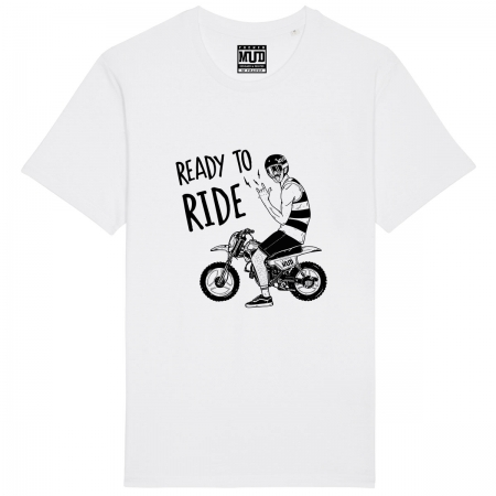 "Tshirt Homme Bio ""Ready to Ride"""