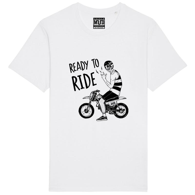 """Tshirt Homme Bio """"Ready to Ride"""""""