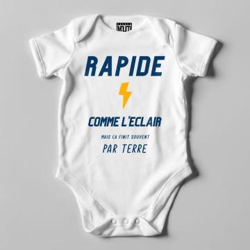 "BODY ""RAPIDE COMME L'ECLAIR"" Bebe BIO"