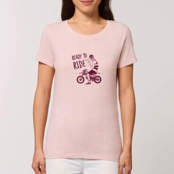 "Tshirt Femme Bio ""Ready to Ride"""