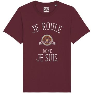 """Tshirt Homme Bio """"Je roule donc je suis"""""""