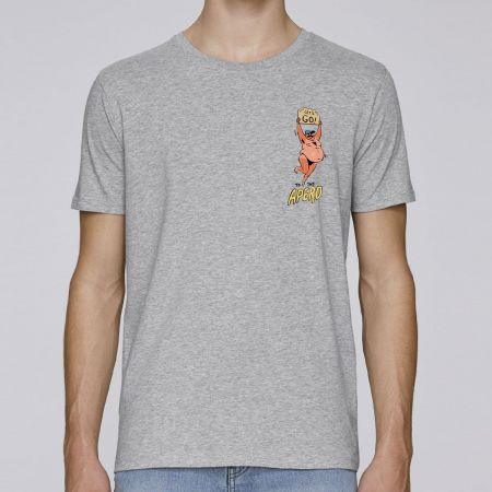 "Tshirt Homme Bio ""Let's Go to The Apero"""
