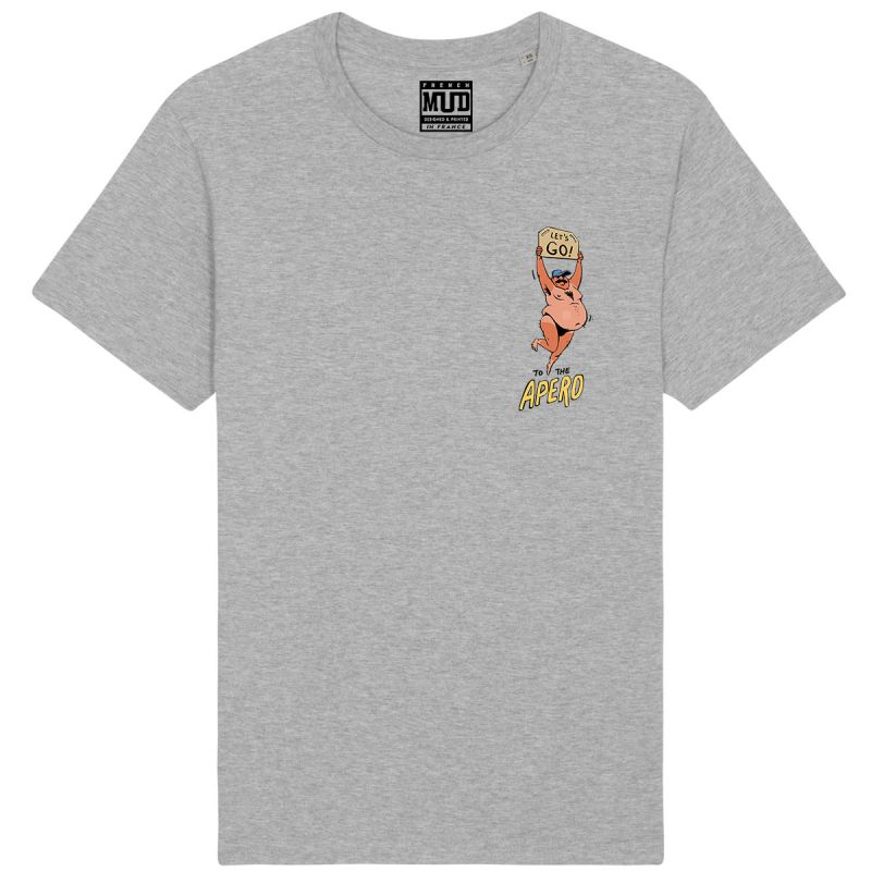 """Tshirt Homme Bio """"Let's Go to The Apero"""""""