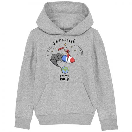 "Sweat Capuche Enfant Bio ""Satellise"""