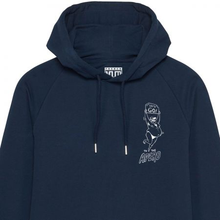 "Sweat Capuche Homme Bio ""Let's Go to The Apero"""