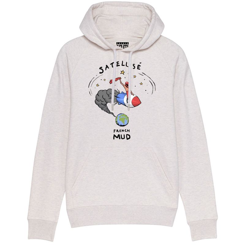 "Sweat Capuche Homme Bio ""Satellise"""
