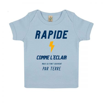 "Tshirt Bebe Bio ""Rapide comme l'eclair"""