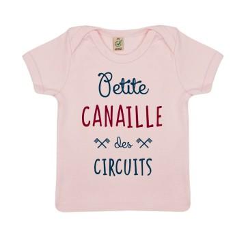 "Tshirt Bebe Bio ""Petite Canaille des Circuits"""