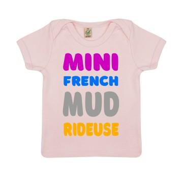 """Tshirt Bebe Bio """"Mini French Mud Rideuse"""""""