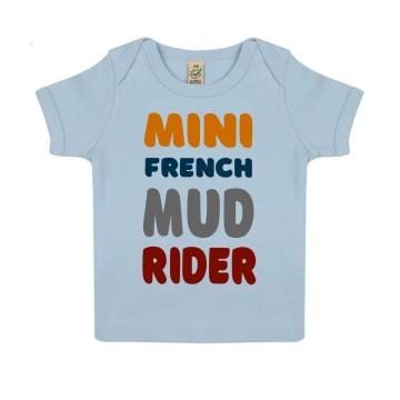 """Tshirt Bebe Bio """"Mini French Mud Rider"""""""