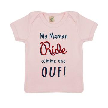 "Tshirt Bio ""Ma Maman Ride comme une Ouf"""