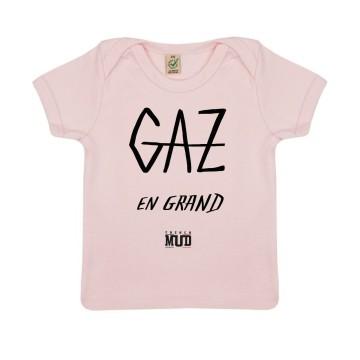 """Tshirt Bebe Bio """"Gaz en Grand"""""""