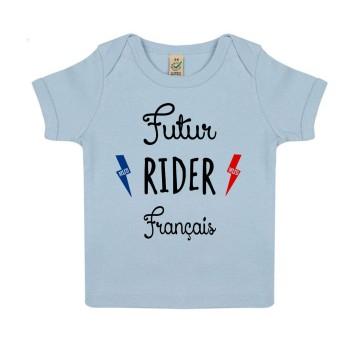 "Tshirt Bebe Bio ""Futur Rider Français"""
