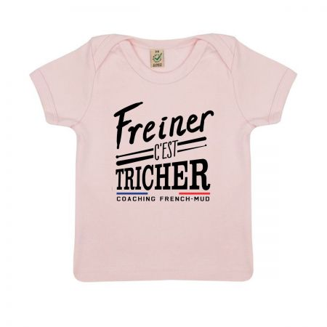 """TSHIRT """"FREINER C'EST TRICHER"""" Bebe BIO"""