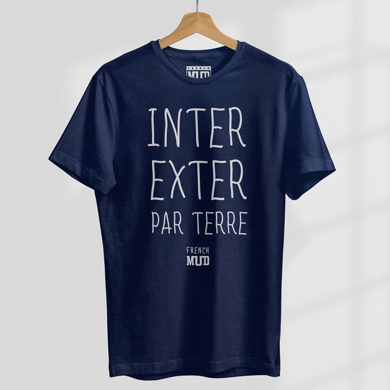"""Tshirt """"Inter Exter Par Terre"""" Homme"""