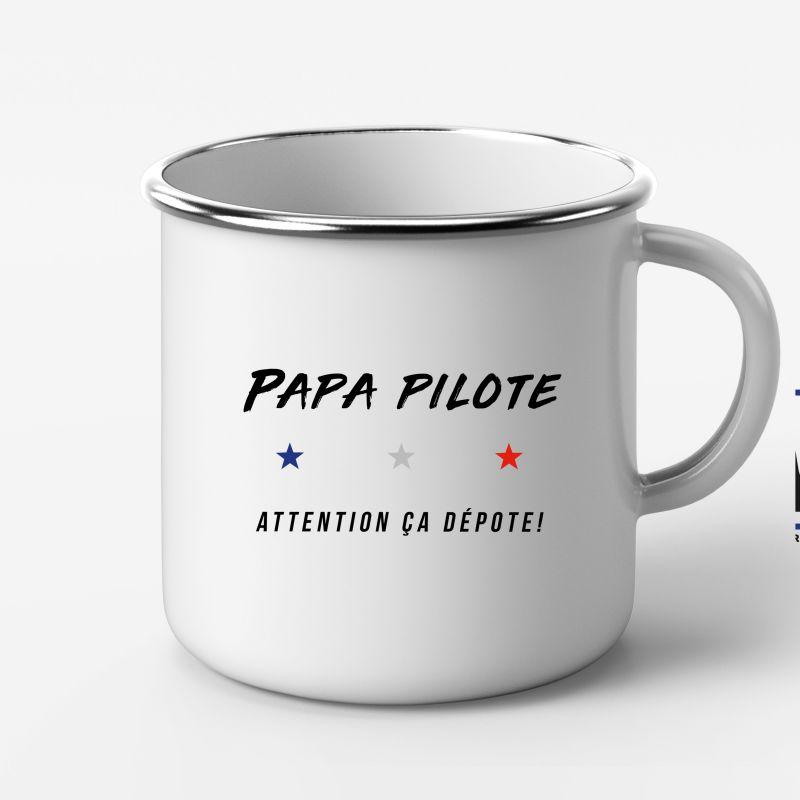 """Mug Metal """"Papa Pilote"""""""