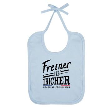"""Bavoir Bio """"Freiner c'est tricher"""""""