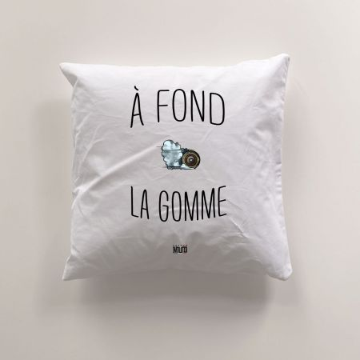 """Coussin """"A Fond la Gomme"""""""