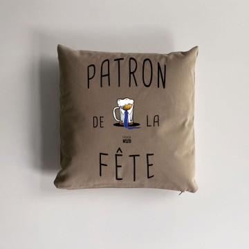 """Coussin """"Patron de la Fête"""""""