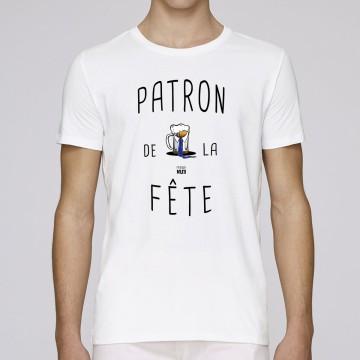 """TSHIRT """"PATRON DE LA FETE"""" Homme"""