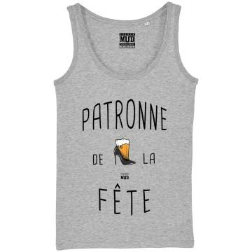 "DEBARDEUR ""PATRONNE DE LA FETE"" Femme"