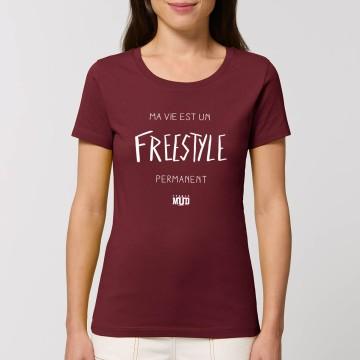 "Tshirt Femme ""Freestyle permanent"""
