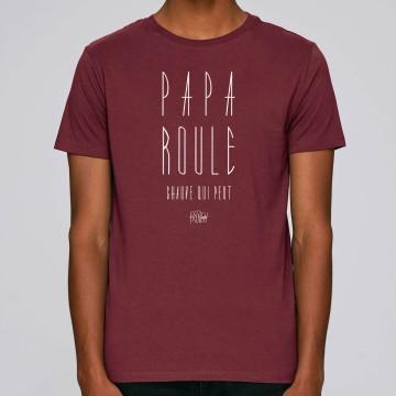 Tshirt PAPA ROULE CHAUVE QUI PEUT