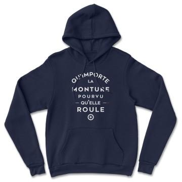 """HOODIE """"QU'IMPORTE LA MONTURE"""" Homme"""