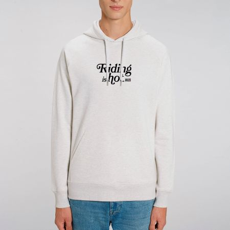 """HOODIE """"RIDING IS HOT"""" Homme"""